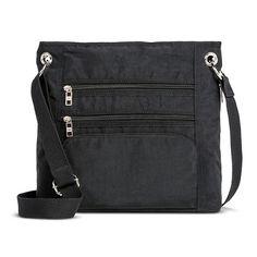 "Women's Nylon Zipper Pockets Crossbody Handbag  Multiple interior compartments, Multiple exterior compartments  Handle Type: Adjustable Strap  Maximum Strap Length: 26.0 ""  Dimensions: 12.0 "" H x 13.0 "" W x 4.0 "" D"