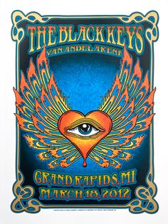 the black keys concert poster | The Black Keys - Grand Rapids, MI 2012