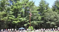 """Video: Rabbi Sol Goodman, Resident Jewish Chaplain, offers the lyrics of """"I Hope You Dance"""" by Lee Ann Womack as a benediction at the Sunday Dress Parade. Tim O'Neil Field is on the Orange Trail at Camp #Yawgoog, Rockville, Hopkinton, Rhode Island. Recorded on August 2, 2015, by David R. Brierley."""