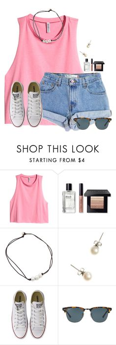 """""""bubblegum"""" by flroasburn on Polyvore featuring H&M, Levi's, Bobbi Brown Cosmetics, J.Crew, Converse and Ray-Ban"""