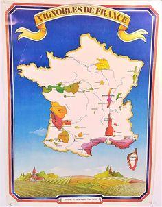 Vineyards of France (Vignobles De France) Vintage 1983 - Rare - Euro-Impressions