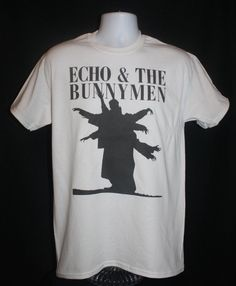 brand new echo and the bunnymen t-shirt 80s indie by damilkshop