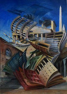 F. Martinuzzi; Atlantis de L. Krier, aq 13x18, +ou-1990.