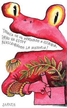 Caricatura de Pedro León Zapata publicada por el Nacional el 06 de junio de 2008