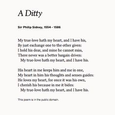 "Enjoy ""A Ditty"" by Sir Philip Sidney to revel in the joy of your marriage!"