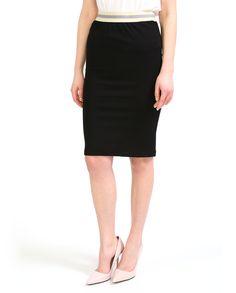 #Юбка-карандаш из коллекции #Merci. Модель выполнена в черном цвете с контрастным поясом на резинке. Благодаря своей универсальности составит комплекты как в деловом, так и в повседневном стиле. Skirts, Fashion, Moda, Fashion Styles, Skirt, Fasion, Skirt Outfits, Dresses