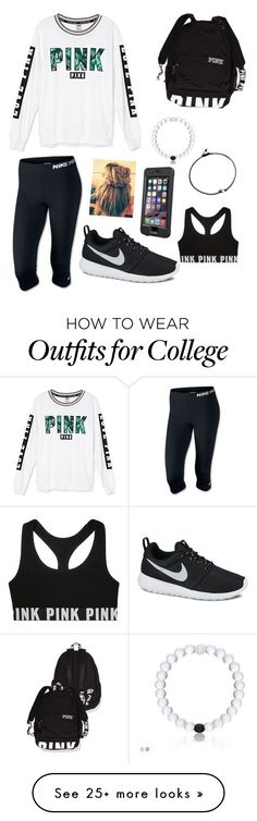 """Untitled #51"" by samhaines on Polyvore featuring Victoria's Secret, NIKE and LifeProof"