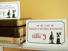 Victorian Place Cards by Earmark on Etsy, Customize with your colors and guests names!