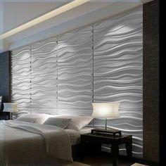 Modern WAVES 3D Wall Panel Textured Glue on Wall tiles - Box of 6 Wall art