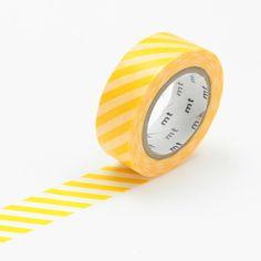 MT Stripe Yellow Washi Tape