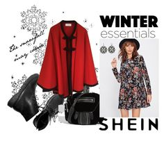 """Winter essentials"" by andrea-pok ❤ liked on Polyvore featuring Alexander Wang, Yves Saint Laurent, Simply Vera, black, red and shein"