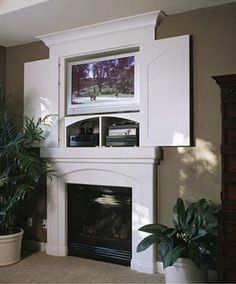Fireplace on Pinterest | Hide Tv, Tv and Tv Cabinets