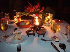 Koro Sun Resort: Romantic dinner in the Seaside Restaurant