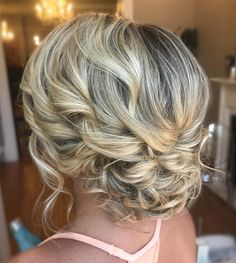 Delicate Curly Updo for Medium Hair