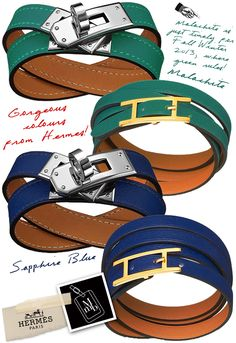 New: Hermès Granville Bracelets, Malachite and Sapphire Blue Colours Hermes Leather Bracelet, Hermes Jewelry, Leather Earrings, Equestrian Outfits, Equestrian Style, Square Earrings, Cute Bracelets, Hermes Handbags, Handbag Accessories