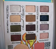Suggested make-up looks using The Balm Jovi pallette
