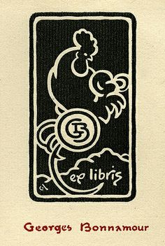 Bookplate by George Auriol (1863-1938) for Georges Bonnamour