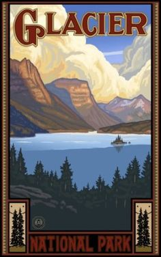 Amazon.com: Northwest Art Mall 11 x 17 Poster St. Mary Lake Glacier National Park by Paul A. Lanquist: Home & Kitchen