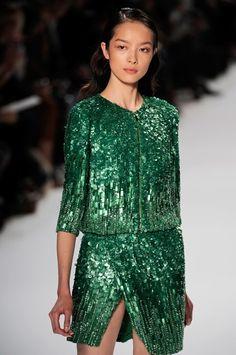elie saab 2012 - beaded emerald green beauty
