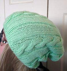 Lightweight Cable Knit Hat by bricoknits on Etsy