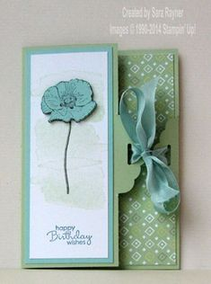 Happy Watercolor tag topper card using supplies from Stampin' Up! #stampinup