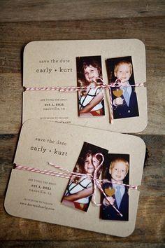 Partecipazioni di nozze con foto sposi bambini | Wedding stationery with photos