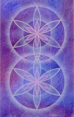 ❤~ Flor de la Vida~❤   Flower of Life #purple