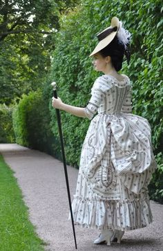 Before the Automobile: 18th century clothing The Tronchin cane show here is the inspiration for my wand/staff.