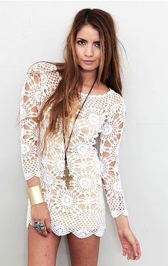 white lace..  want this to go with my white lace pants..