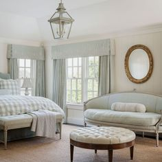 Springing forward means it's more than okay to sleep in. And can you imagine starting daylight savings in this soothing master bedroom designed by @larryhooke.design