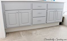 Domestically Speaking: Gorgeous Gray Cabinets with Paint