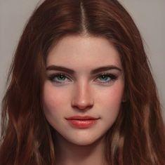 Digital Art Girl, Digital Portrait, Portrait Art, Girl Face, Woman Face, Character Portraits, Character Art, Face Illustration, Face Claims