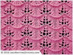 A great knitted lace pattern for beginner. Free chart No.23