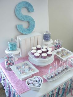 Gorgeous treats at a pajama birthday party! See more party ideas at CatchMyParty.com!
