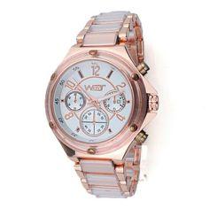 Wbyt dames horloge met rosé kleurige metalen band €35,00 info: www.thebrickhouse.nl