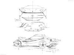 Ferrari F12 Berlinetta sketches from NetCarShow