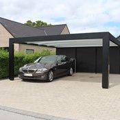 KUBIC funkis carport - Dansk design og kvalitet   Lyngsøe A/S Carport Designs, House Design, Car Ports, Studio, Annex, Inspiration, Carport Garage, Wooden Sheds, Parking Lot