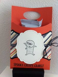 Googly Ghouls Treat holder. I gave these to my co-workers for Halloween. They loved them. I used a design by Andrea.