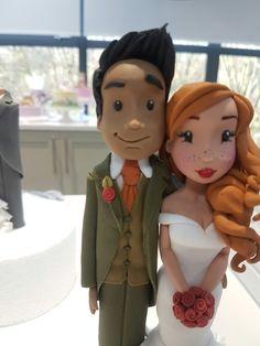 Wedding Cake Toppers, Wedding Cakes, Cake Models, Fondant Figures, Sugar Art, Cold Porcelain, Just Married, Bride Groom, Marie