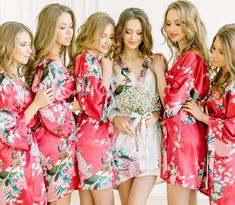 52ea32a0f71 8 Best Floral bridesmaid robes images