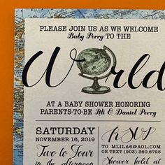 Welcome to the World Baby Shower Printable Baby Girl Shower Bridal Shower Bingo, Baby Shower Games, Wedding Trivia, Travel Baby Showers, Wishes For Baby Cards, Purse Game, Friends Tv Show, Travel Themes, Baby Shower Printables