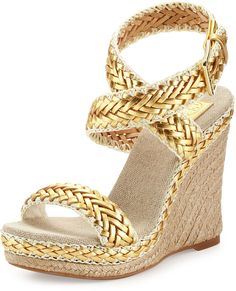 the perfect gold metallic wedges! OBSESSED!