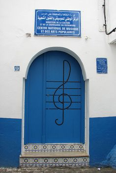 A #Door fit for a Music Buff in Tunis Nothing like have a G (Treble) clef painted on your #door.