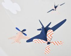 super cute custom baby mobiles from CactusAndOlive on Etsy. Love the airplanes!!
