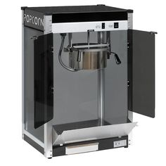 Contempo Pop 8 oz. Popcorn Machine, Black And Stainless Steel