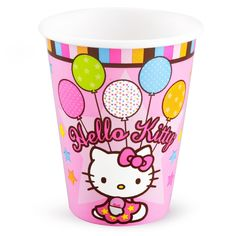 Hello Kitty Balloon Dreams 9 oz. Cups - Package includes 8 paper cups. Each holds 9 fl. oz.
