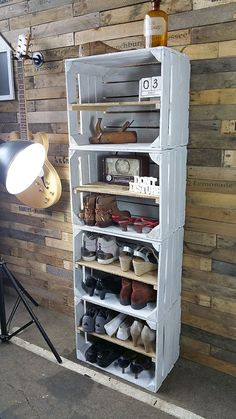 Home Decor Spectacular Diy Shoe Storage Ideas For Best Home Organization To Try Ultimate Closet Diy Shoe Storage, Storage Ideas, Diy Casa, Diy Pallet Furniture, Wooden Crate Furniture, Wooden Crates, Wood Crate Shelves, Wooden Pallet Crafts, Vintage Crates