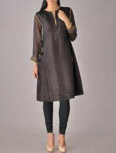 Black Kota Silk Tassel Tunic lov this basic classic