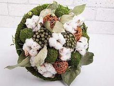 Создаем декоративный букет из хлопка и сухоцветов   Ярмарка Мастеров - ручная работа, handmade