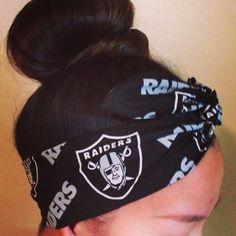 Oakland Raiders Dolly Bow Headband on Etsy, $16.00